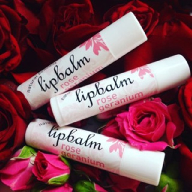 Rose Geranium Natural Beeswax Lip Balm